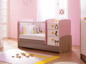 Tempat tidur anak cewek pink terbaru