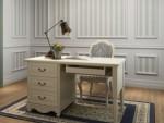 Meja Kantor 3 laci Set Cat Duco Putih