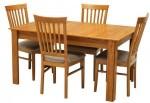 Meja makan minimalis panjang kayu jati