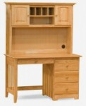Meja belajar minimalis kayu jati multufungsi