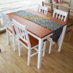 Meja makan minimalis new pendek kursi 4