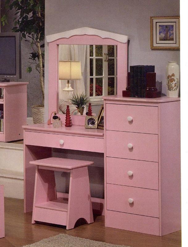 Meja rias anak minimalis pink lucu MRI 014