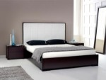 Tempat tidur minimalis jati Black Glossy Duco BRS-020