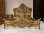 Tempat tidur ukir Clasic luxury Gold BRS-024