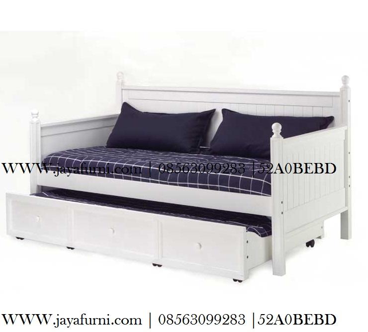 DayBed Sorong Modern Minimalis Duco Putih