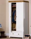 Lemari Pakaian Anak Minimalis Cat Duco Putih