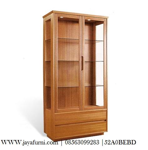 Rak Buku Minimalis 2 Pintu