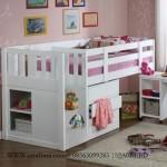 Tempat Tidur Tingkat Anak Multifungsi Putih