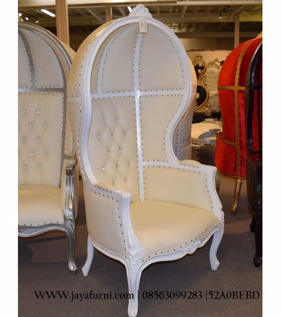 Kursi Sofa kurung Putih Single Chair