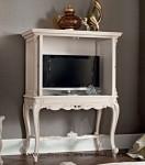 Meja Rak Tv Ukir Klasik Putih