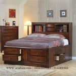 Tempat Tidur Minimalis Berlaci Modern