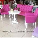 Sofa Teras Minimalis Pink Cantik Luxury