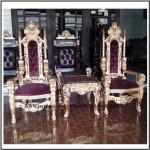 Set kursi ukir Teras Raja Gold Luxury