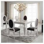 Kursi Makan Oval Duco Putih Mewah