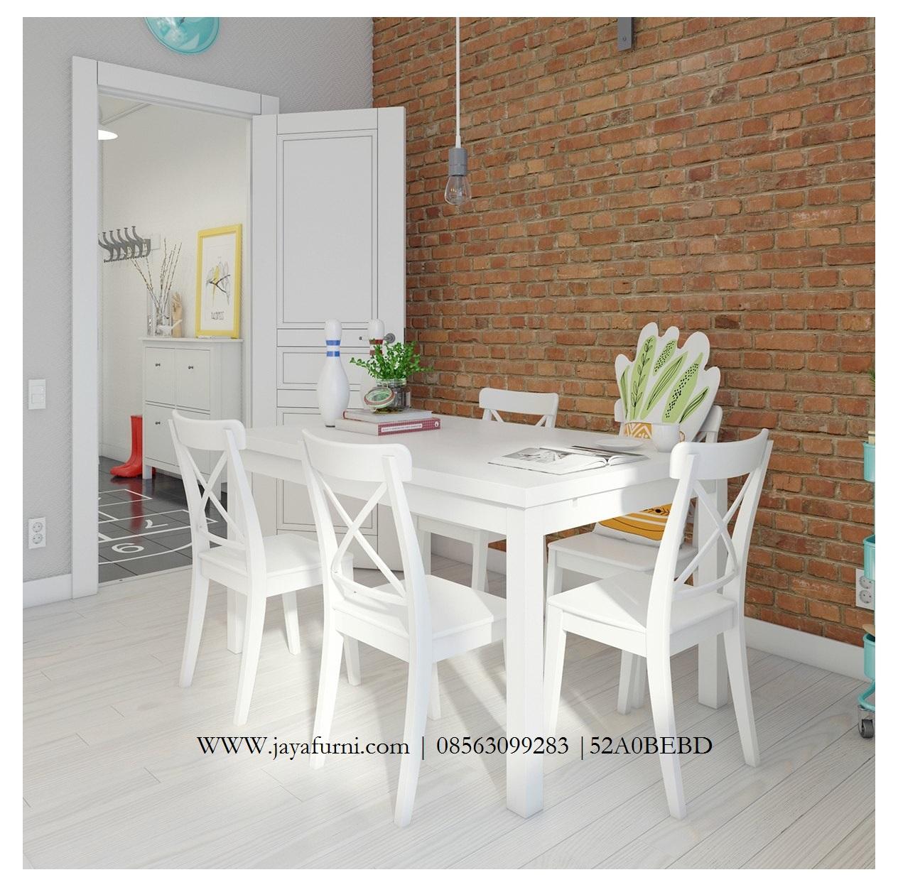 Meja Makan Minimalis Putih Duco Mewah Jayafurni Mebel