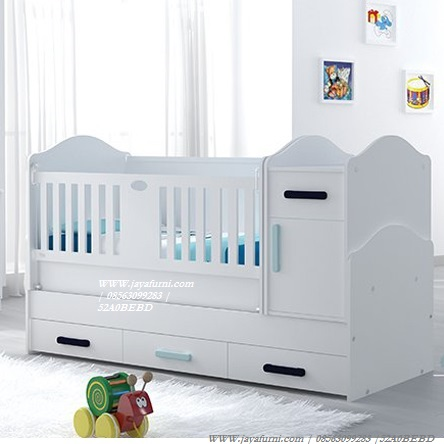 Ranjang Tempat Tidur Bayi 2 Fungsi