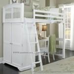 Tempat Tidur Anak Tingkat Putih Serbaguna