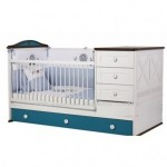 Ranjang Bayi Minimalis Laki Laki Putih Biru