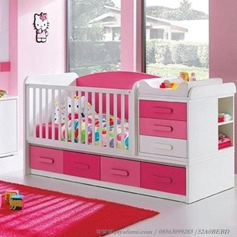 Tempat Tidur Bayi Cewek Pink Lucu