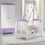 Set Kamar Tidur Bayi Putih Ungu