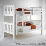 Tempat Tidur Anak Tingkat 2 Simpel Putih