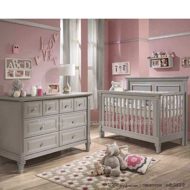 Tempat Tidur Bayi Set Grey