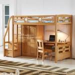 Tempat Tidur Tingkat Modern Meja Belajar Set