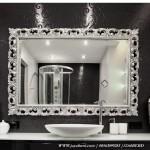 Cermin Hias Ukir Persegi Panjang