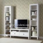 Bufet Tv Set Minimalis Putih Dua Laci