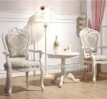Kursi Sofa Teras Ukir Mewah Cat Putih