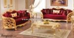 Set Sofa Ruang Tamu Mewah Ukir Cat Emas