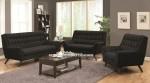 Kursi Sofa Minimalis Retro Jok Hitam