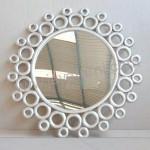 Cermin Bundar Duco Putih