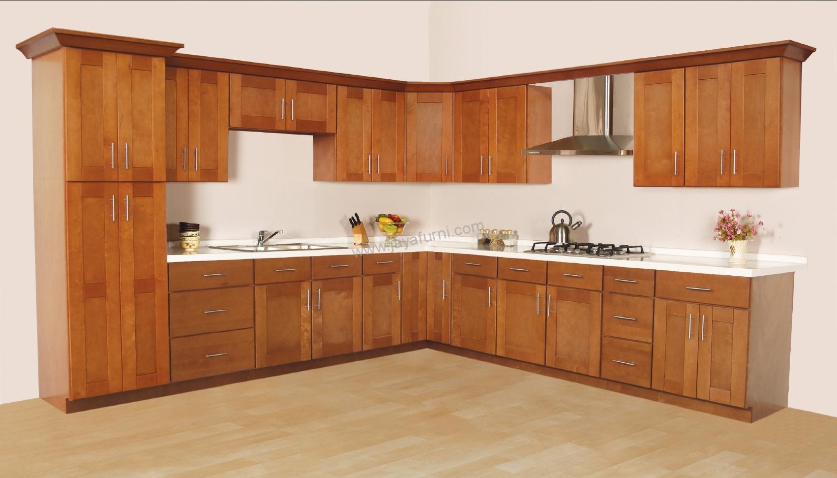 Kitchen set kayu jati rak dapur gantung minimalis for Pemasangan kitchen set