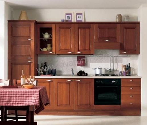 Kitchen set minimalis kayu jati 3 5 meter jayafurni for Harga kitchen set jati
