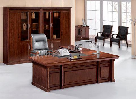 Meja Kantor Minimalis Moden Set Kayu