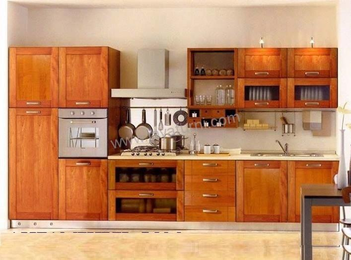 Kitchen Set Jati Minimalis Simpel Jayafurni Mebel