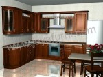 Model Kitchen Set Minimalis Gantung Kayu Jati