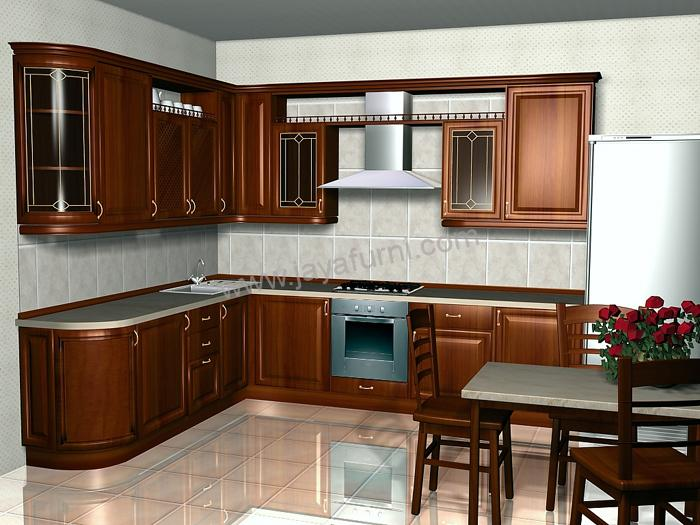 Model kitchen set minimalis gantung kayu jati jayafurni for Harga kitchen set per meter
