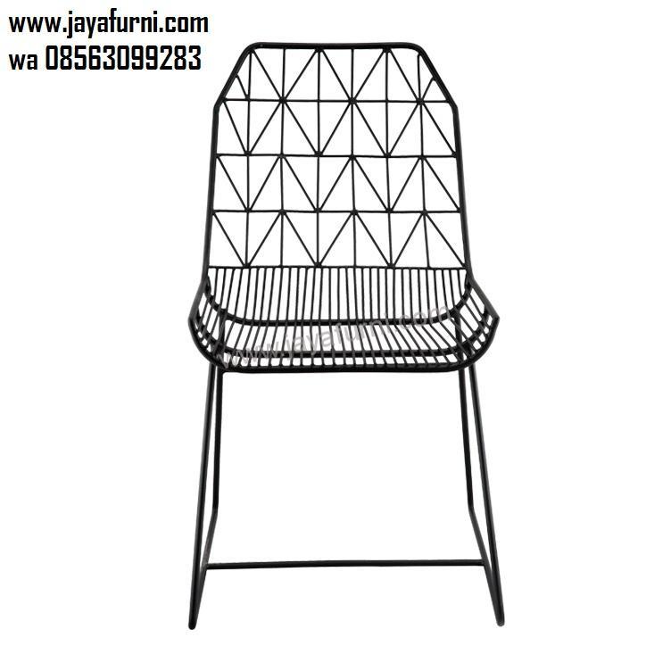 Kursi Besi Cafe dan Resto Model Keranjang
