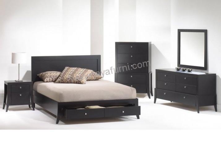 Set Tempat Tidur Minimalis Berlaci