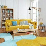 Kursi Sofa Retro Jengki Yellow