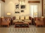 Set Sofa Jati Minimalis Natural