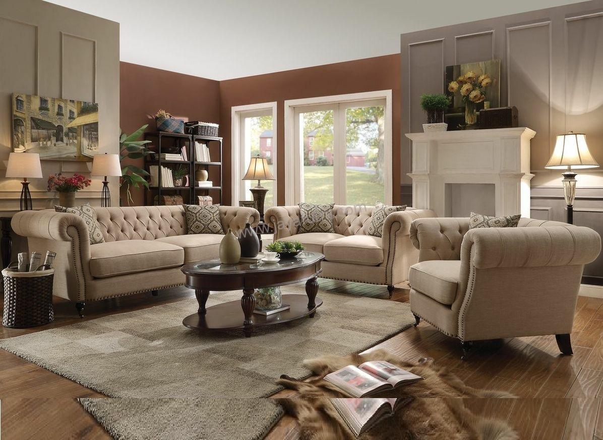 Set sofa tamu cesterfield klasik jayafurni mebel jepara for Sofa klasik