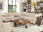 Sofa Chesterfield Sudut Meja Industrial