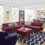 Sofa Sudut Minimalis Maroon