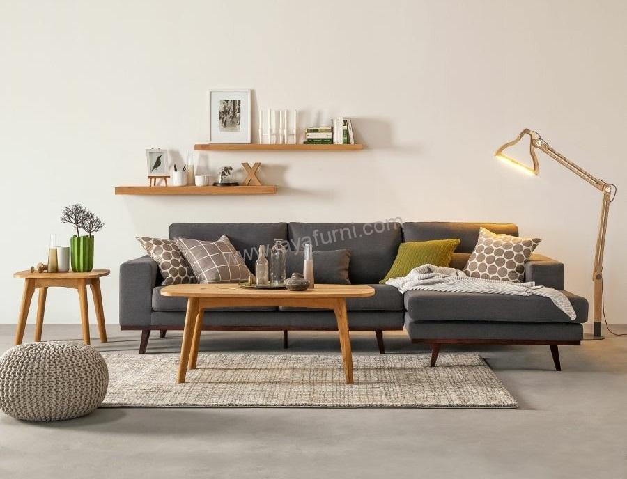 Sofa Sudut Ruang Tamu Scandinavian