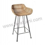 Kursi Bar Stool Rotan Natural