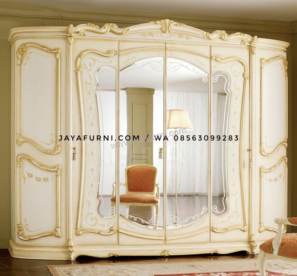 Lemari Baju Mewah 6 Pintu Cermin
