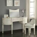 Meja Rias Putih Cermin Lipat